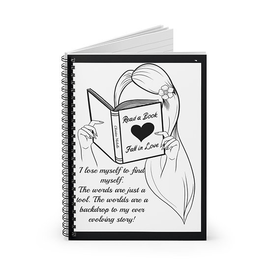 Reader Girl Spiral Notebook - Ruled Line