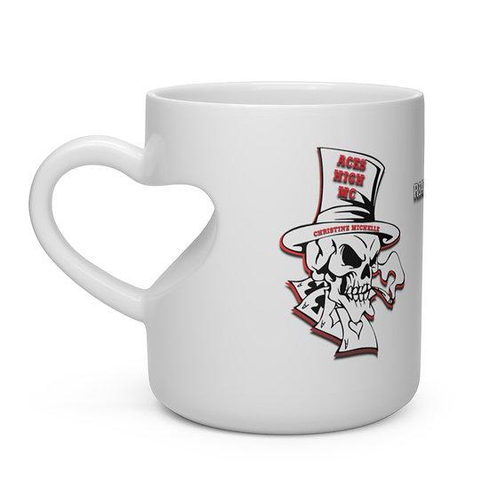 Aces High MC - Heart Shape Mug