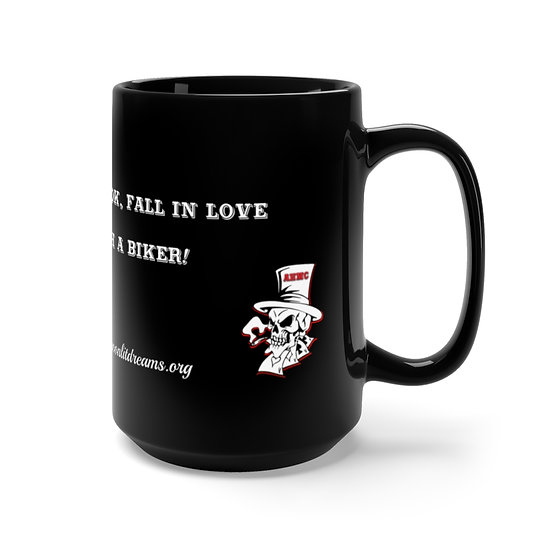Aces High MC Love/Biker Logo - Black Mug 15oz