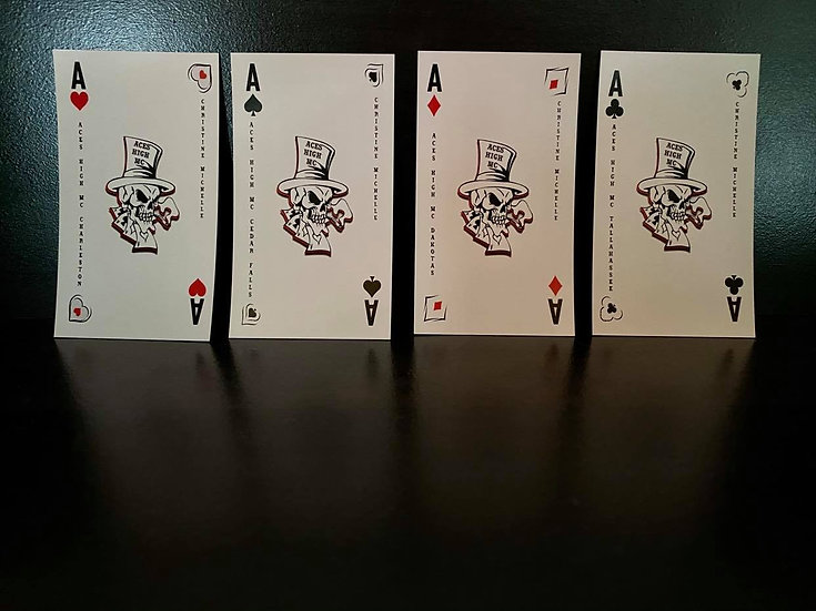 Aces High MC Deck Magnets