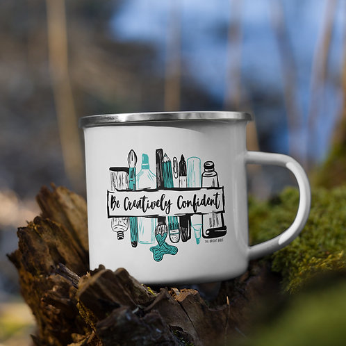 Be Confidently Creative Enamel Mug