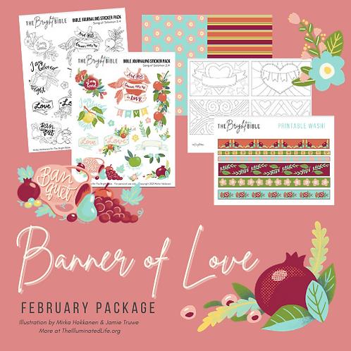 February Themed Pack - Banner of Love
