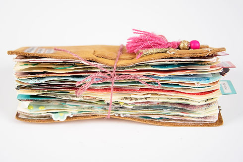 Mixed media book pages art journaling ab