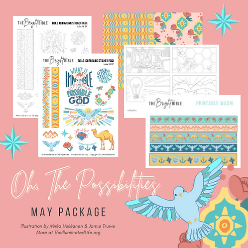 Oh, The Possibilities - May Themed Printable Pack