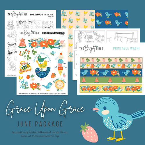 Grace Upon Grace -Themed Printable Pack