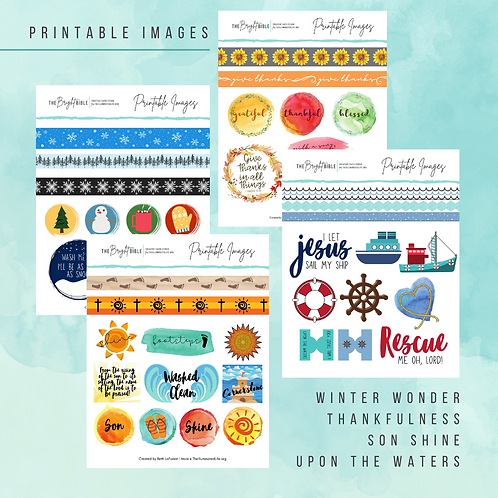 4-Page Printable Images