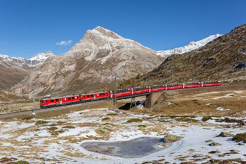 Postkarte Bernina Express