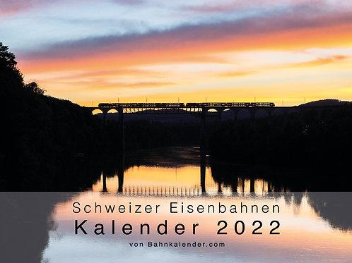 Schweizer Eisenbahnen - Kalender 2022
