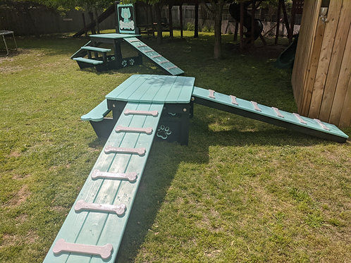 Triple Ramp Playscape