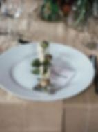 rustic weddig table setting