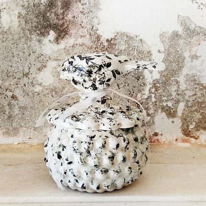 Porcupine Ceramic Container with bird lid (M)