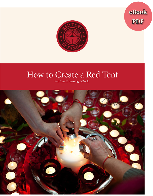 """How to Create a Red Tent"" eBook. Available for $9.99 at: http://www.redtentmovie.com/eBook-create-a-red-tent.html"