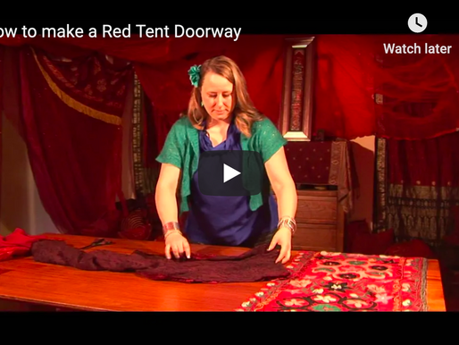 How to make a beautiful Red Tent doorway