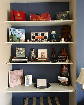 Bookshelf Staging