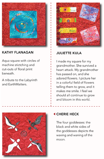 Threads of Red Quilt #1