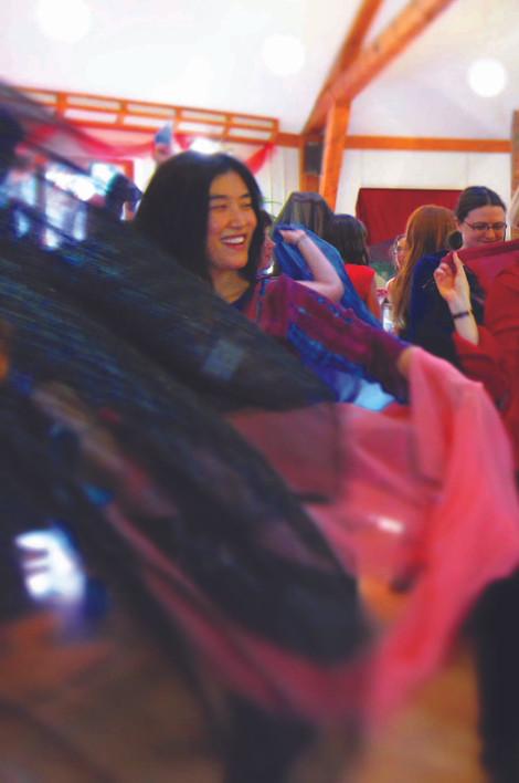 Red Tent Veil Dancer