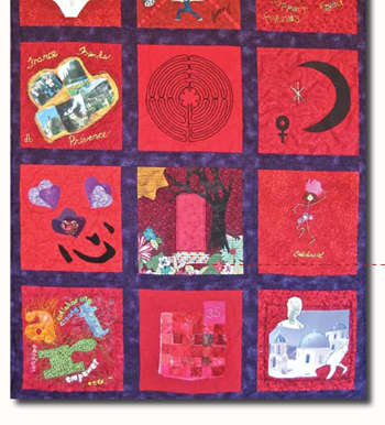 Threads of Red: Quilt #3