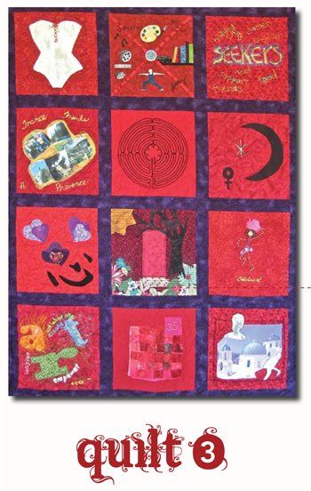 Threads of Red Quilt #3