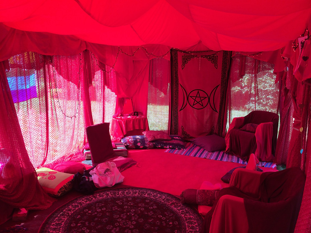 Red Tent created by Cherie Ackerson at Women Circles in Rowe, MA.