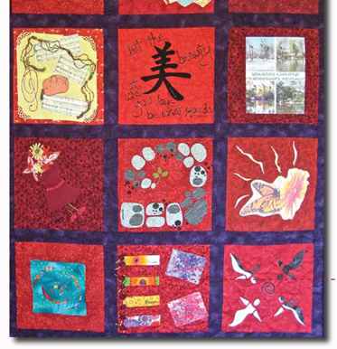 Threads of Red: Quilt #1
