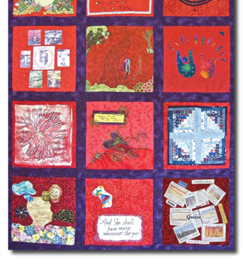 Threads of Red: Quilt #2