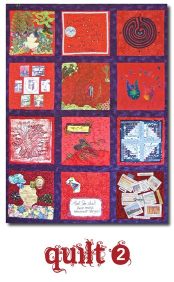 Threads of Red Quilt #2