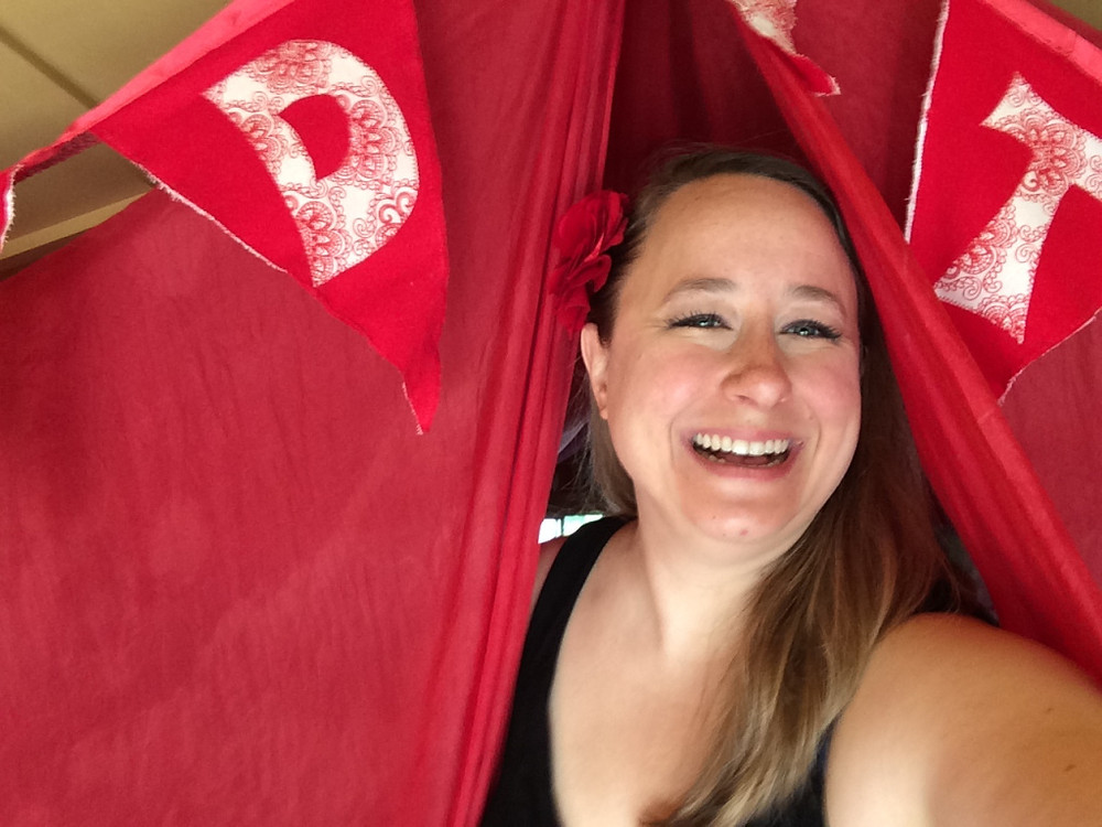Dr. Isadora at the permanent Red Tent in Lousiville, KY