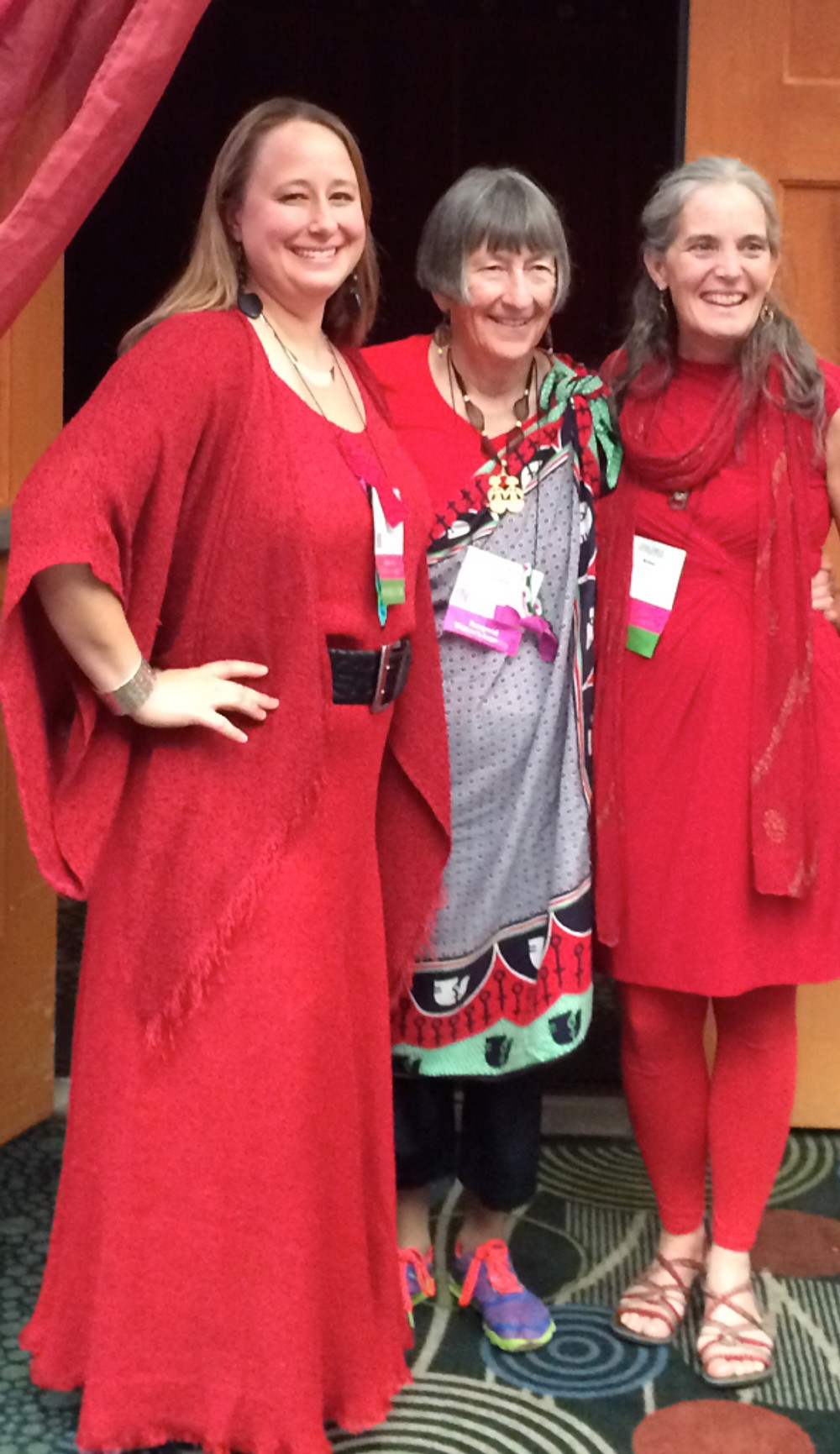 Dr. Isadora, Lydia Ruyle, and ALisa Starkweather in the Red Tent at the Parliament of World Religions