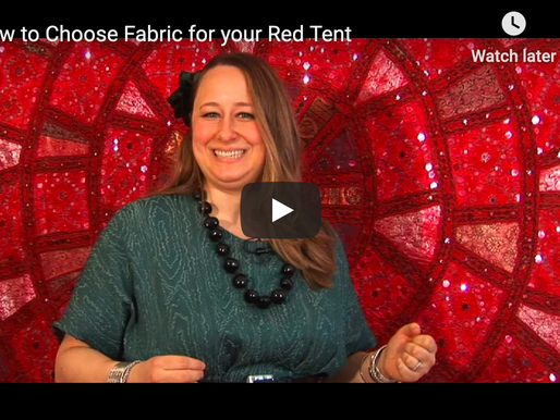 How to Chose Fabric for your Red Tent