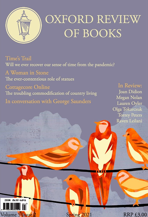 PREORDER Oxford Review of Books Spring 2021