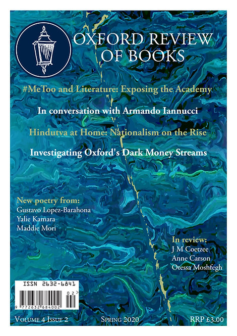 Oxford Review of Books Spring 2020