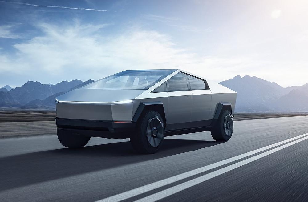 O Tesla Cybertruck Concept tem um desenho no mínimo inusitado e surpreende com muita tecnologia