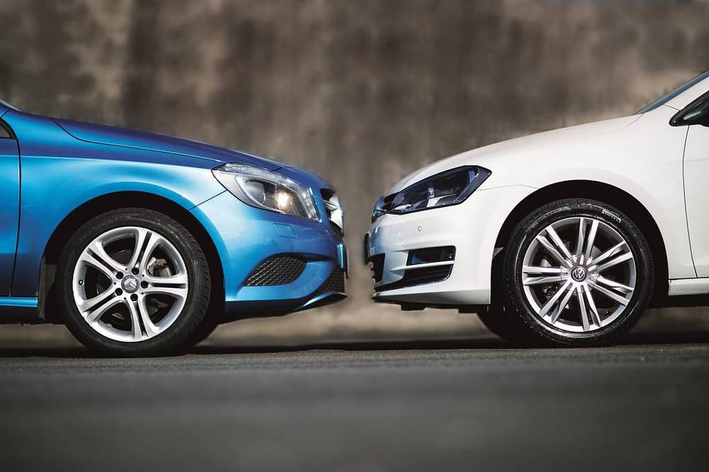 Os pneus importados do Golf e Classe A adoram o asfalto brasileiro – desde que ele seja totalmente liso