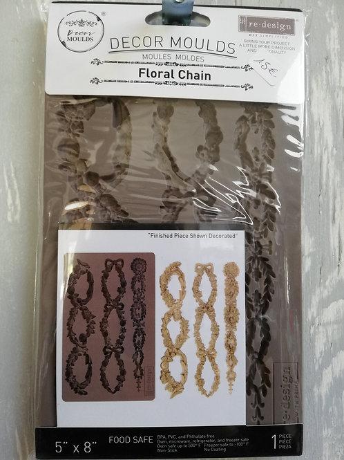 Moulures chaîne de fleurs