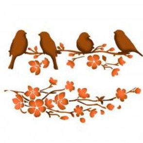 Pochoir Oiseaux