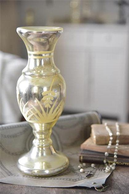 Vase 21 cm verre mercure
