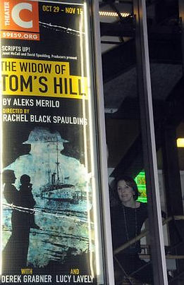 pic of poster and me at 59E59.jpg