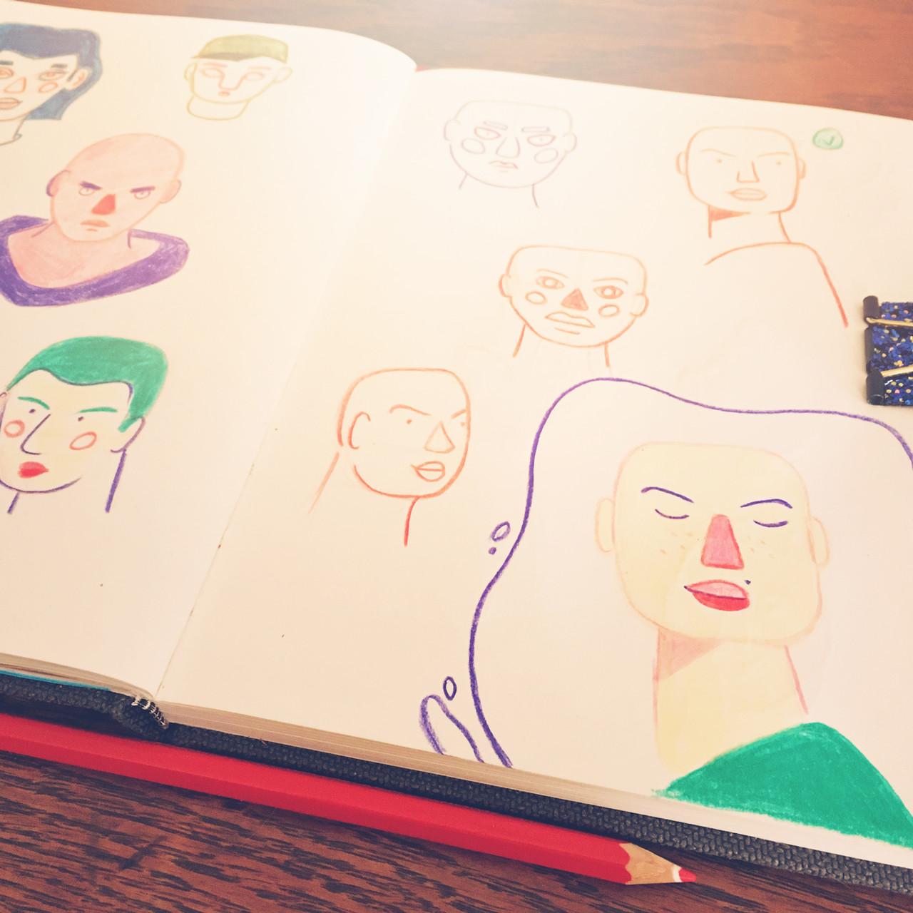 carnet illustrations mademoiselle Ni