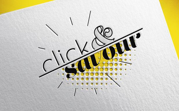 Logo Click&Savour gaufrage