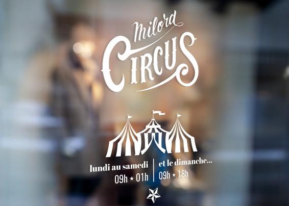 Vitrophanie Milord Circus