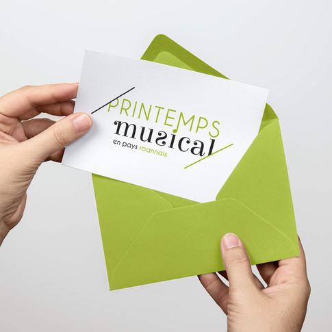 Printemps musical enveloppe
