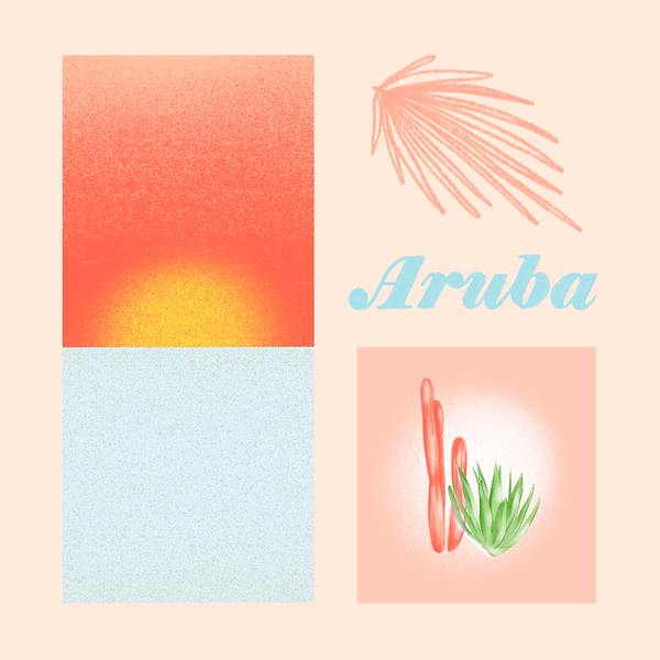 Aruba, digital painting