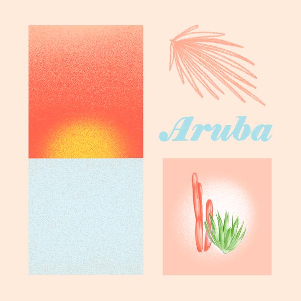 Aruba, digital painting