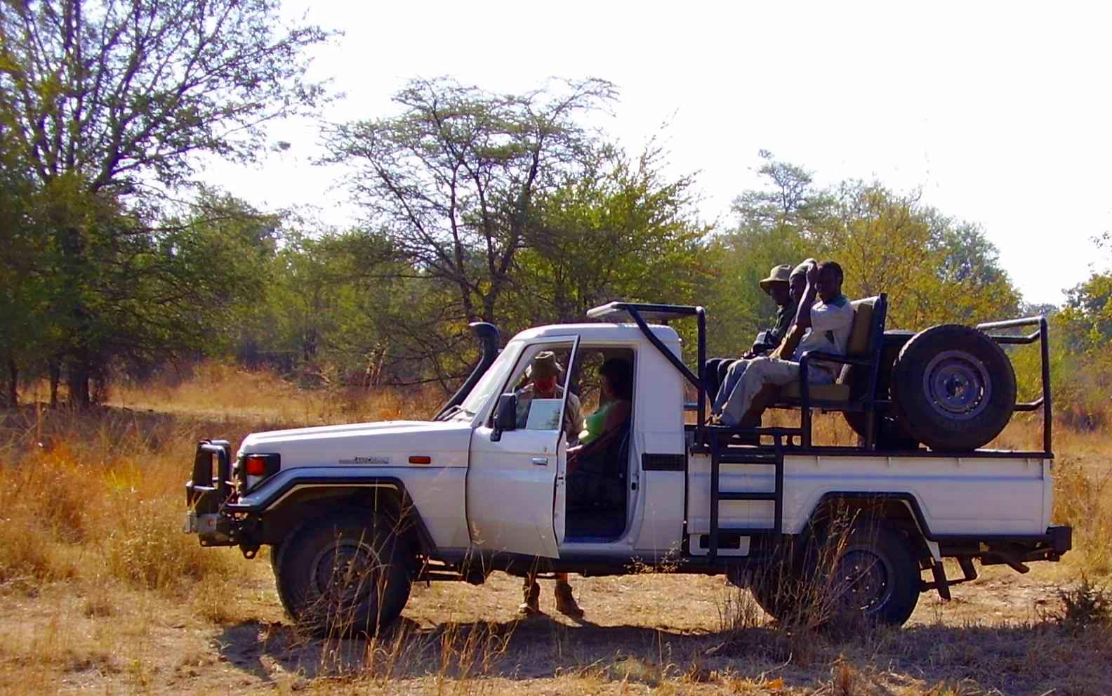 Self, Bren & Trackers On Sengwa River