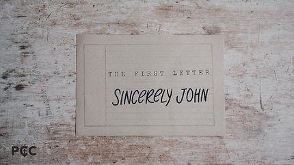 Sincerely, John