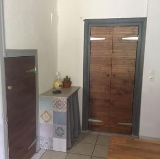 Kitchen larder doors