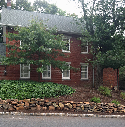 Rock wall at Red Brick Schoolhouse