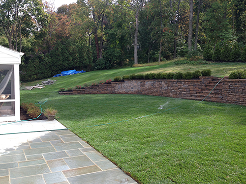 Regrading & retaining wall/ste