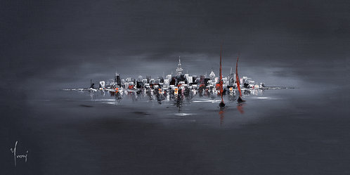 """Sailing at Midnight""  Giclee Print on Canvas"