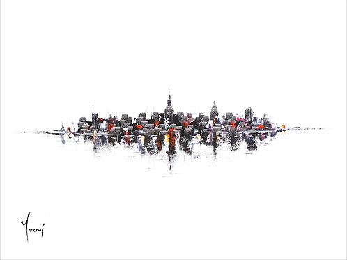 """""""NYC Skyline - Classic"""" Giclee Lithograph Canvas Print"""